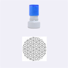 Cute Pretty Elegant Pattern Rubber Round Stamps (small) by creativemom