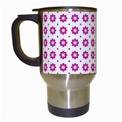 Cute Pretty Elegant Pattern Travel Mugs (white) by creativemom