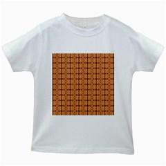 Faux Animal Print Pattern Kids White T Shirts by creativemom