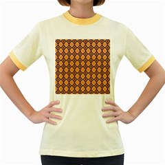 Faux Animal Print Pattern Women s Fitted Ringer T Shirts by creativemom