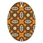 Faux Animal Print Pattern Ornament (Oval)