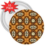 Faux Animal Print Pattern 3  Buttons (10 pack)
