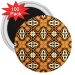Faux Animal Print Pattern 3  Magnets (100 pack)