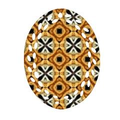 Faux Animal Print Pattern Ornament (oval Filigree)  by creativemom