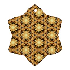 Faux Animal Print Pattern Snowflake Ornament (2 Side) by creativemom