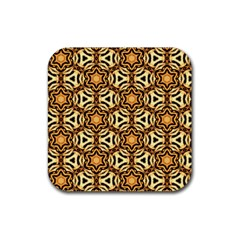 Faux Animal Print Pattern Rubber Coaster (Square)  by creativemom