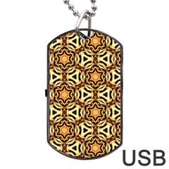 Faux Animal Print Pattern Dog Tag USB Flash (Two Sides)  by creativemom