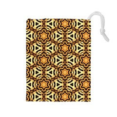 Faux Animal Print Pattern Drawstring Pouches (large)  by creativemom