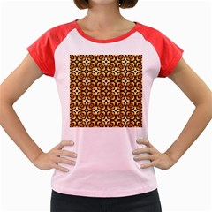 Faux Animal Print Pattern Women s Cap Sleeve T-Shirt by creativemom