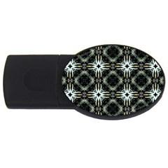 Faux Animal Print Pattern USB Flash Drive Oval (4 GB)  by creativemom