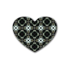 Faux Animal Print Pattern Heart Coaster (4 pack)  by creativemom