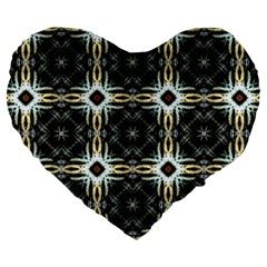 Faux Animal Print Pattern Large 19  Premium Flano Heart Shape Cushions