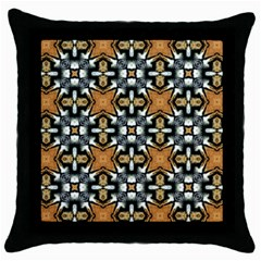 Faux Animal Print Pattern Throw Pillow Cases (black) by creativemom