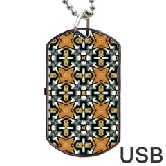 Faux Animal Print Pattern Dog Tag Usb Flash (two Sides)  by creativemom