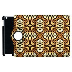 Faux Animal Print Pattern Apple Ipad 2 Flip 360 Case by creativemom