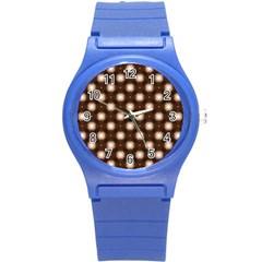 Cute Pretty Elegant Pattern Round Plastic Sport Watch (s) by creativemom