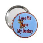 Love my donkey 2.25  Handbag Mirror