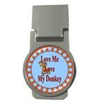 Love my donkey Money Clip (Round)