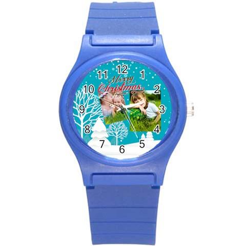 Xmas By Xmas   Round Plastic Sport Watch (s)   Og3daorj55cg   Www Artscow Com Front