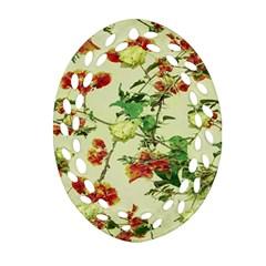 Vintage Style Floral Design Ornament (oval Filigree)  by dflcprints