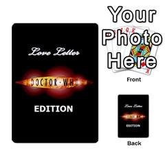 Dr Who Love Letter By Chris Szymanski   Multi Purpose Cards (rectangle)   Ba0bpkv4epho   Www Artscow Com Back 18