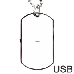 I USED TO CARE Dog Tag USB Flash (One Side) by ScienceGeek