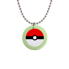 Ball   Green Button Necklace by TheDean