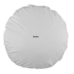 Cannabis Leaf Circle Large 18  Premium Flano Round Cushions by ScienceGeek