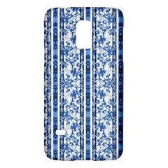 Chinoiserie Striped Floral Print Galaxy S5 Mini by dflcprints