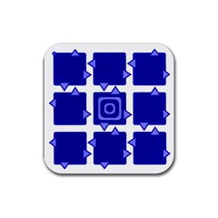 Martain Coaster Blue Drink Coaster (square) by TheDean
