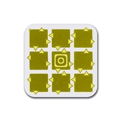 Martain Coaster Yellow Drink Coaster (square) by TheDean