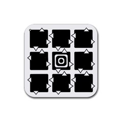 Martain Coaster Black Drink Coaster (square) by TheDean