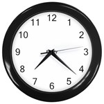 Colour Fields Wall Clocks (Black)