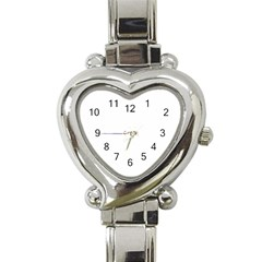 Colour Fields Round Heart Italian Charm Watch by theimagezone