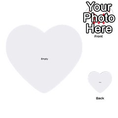 Colour Blindness Vision Multi Purpose Cards (heart)  by ScienceGeek