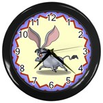 Big ears Wall Clock (Black)