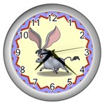 Big ears Wall Clock (Silver)