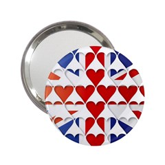 Uk Hearts Flag 2 25  Handbag Mirrors by theimagezone