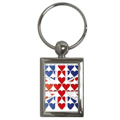 Uk Hearts Flag Key Chains (Rectangle)  by theimagezone