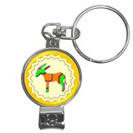Funky Donkey Nail Clippers Key Chain