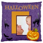 happy halloween - Large Flano Cushion Case (One Side)