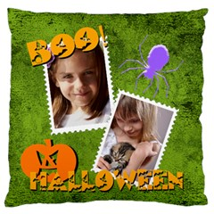 Halloween By Joely   Large Flano Cushion Case (two Sides)   Lmxefmnjevco   Www Artscow Com Front