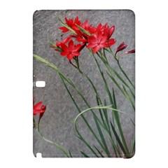 Red Flowers Samsung Galaxy Tab Pro 10.1 Hardshell Case by DeneWestUK