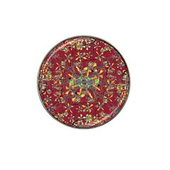 Oriental Floral Print Hat Clip Ball Marker by dflcprints