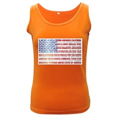 USA States Flag Women s Dark Tank Tops by theimagezone