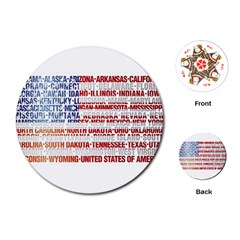 Usa States Flag Playing Cards (round)  by theimagezone