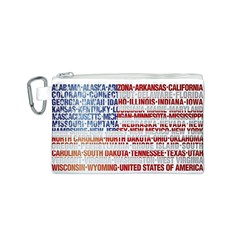 Usa States Flag Canvas Cosmetic Bag (s) by theimagezone