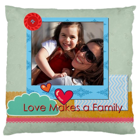 Family By Family   Standard Flano Cushion Case (one Side)   515zi1zyaors   Www Artscow Com Front