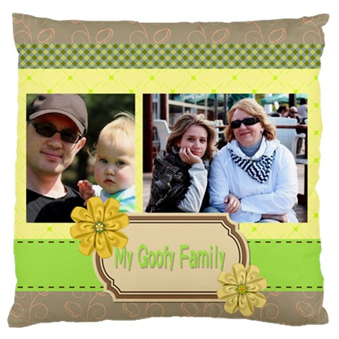 Family By Family   Standard Flano Cushion Case (one Side)   Bg9s7b5vpden   Www Artscow Com Front