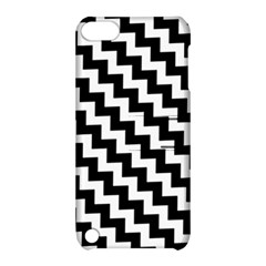 Black And White Zigzag Apple Ipod Touch 5 Hardshell Case With Stand by ElenaIndolfiStyle